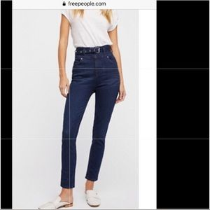 Super high waisted skinny jean Free people size 29